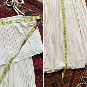 Vintage Dresses - VTG Pleated Minimalist Maxi Dress